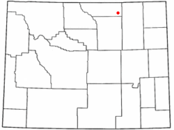 Location of Arvada, Wyoming