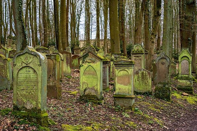 Waibstadt - Jüdischer Friedhof - mittlerer Teil - Ansicht vom Hauptweg 1.jpg