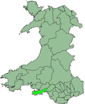 District of Swansea - Image: Wales Swansea 1974