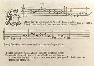 "Eyn geystlich Gesangk Buchleyn - ""Christ lag in Todes Banden"", tenor part"