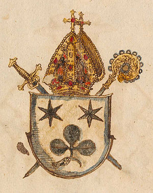 Sion, Switzerland - Coat of Arms of Hildebrand Riedmatten, Bishop of Sion in 1594
