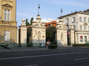 Main gate of Warsaw University.