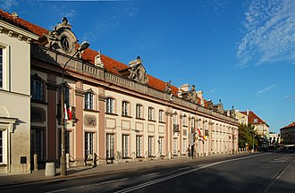 Branicki Palace, Warsaw - Image: Warszawa pałac Branickich (Miodowa)