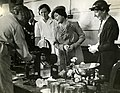 Wartime Activities, HM Queen Elizabeth visit to WI canning unit at Reading, Aug 1942. (22475502824).jpg