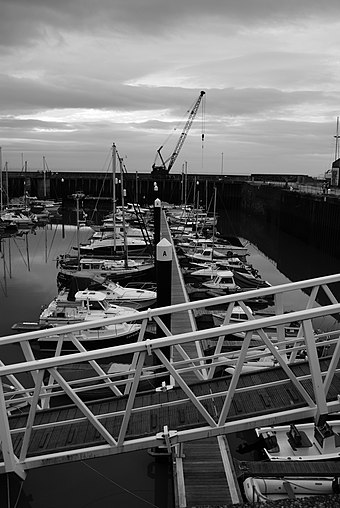 The marina in Watchet Watchetmarinab&w.jpg