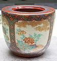 Water Jar, studio of Nonomura Ninsei, Kyoto ware, Edo period, 17th century, peony design in overglaze enamel - Tokyo National Museum - DSC06043.JPG