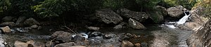 Waterfalls at Bahati Camp, the first of three ...