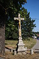 Wayside cross in Třebelovice, Třebíč District.JPG
