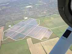 Webberville Solar Farm Near Austin Texas from the Air.JPG