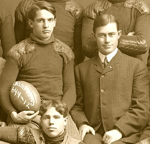 "Boss Weeks - The trio of Boss Weeks (left), Fielding H. Yost (right) and Willie Heston (below) were key individuals in Michigan's ""Point-a-Minute"" teams of 1901 and 1902."