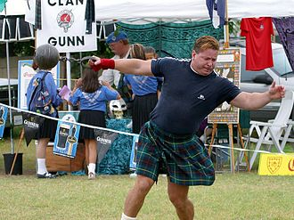 Highland games - Weight throw