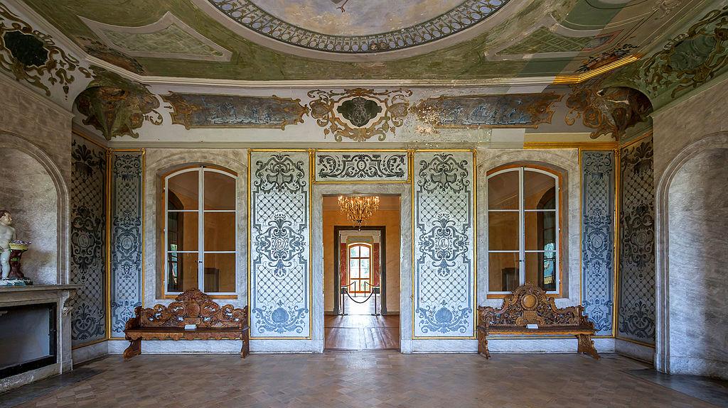 Weimar Schloss Belvedere Silbergrauer Salon