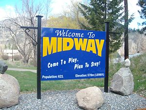Midway, British Columbia - Midway's welcome sign