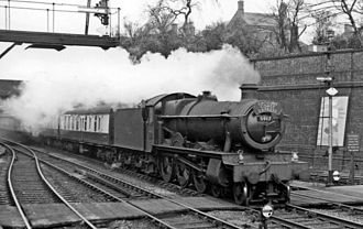 Wellington railway station (Shropshire) - Up 'Cambrian Coast Express' in 1960