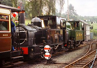 """Welshpool and Llanfair Light Railway - Gala Day: """"The Earl"""" and """"The Countess"""" at Llanfair Caerinion"""