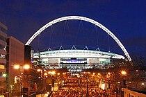 Wembley Stadium, illuminated.jpg