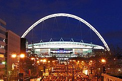 Wembley Stadium, illuminated.jpg
