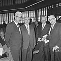 Wereldcongres Vakbeweging in RAI, bij de opening v.l.n.r. Roemers (NVV), ministe, Bestanddeelnr 917-9422.jpg