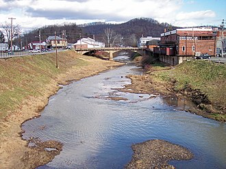 West Fork River - The West Fork River in Weston in 2006