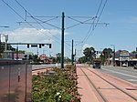 West along tracks from Jackson-Euclid station, Aug 15.jpg