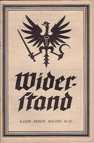 National Bolshevism - Ernst Niekisch's Widerstand journal featuring the original National Bolshevik eagle symbol