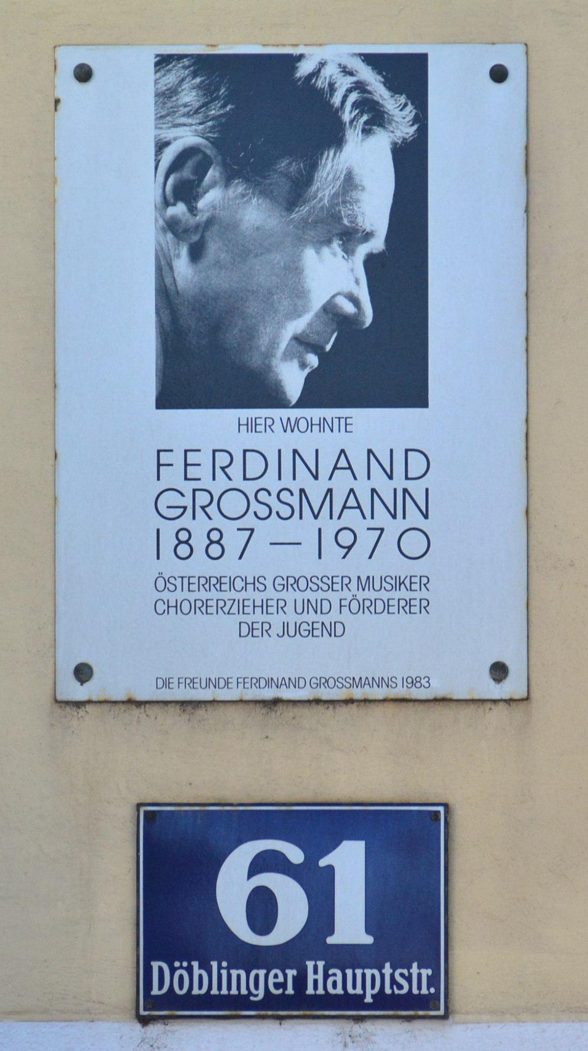 Ferdinand Grossmann – Wikipedia