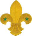 WikiProject Scouting fleur-de-lis no scroll.png