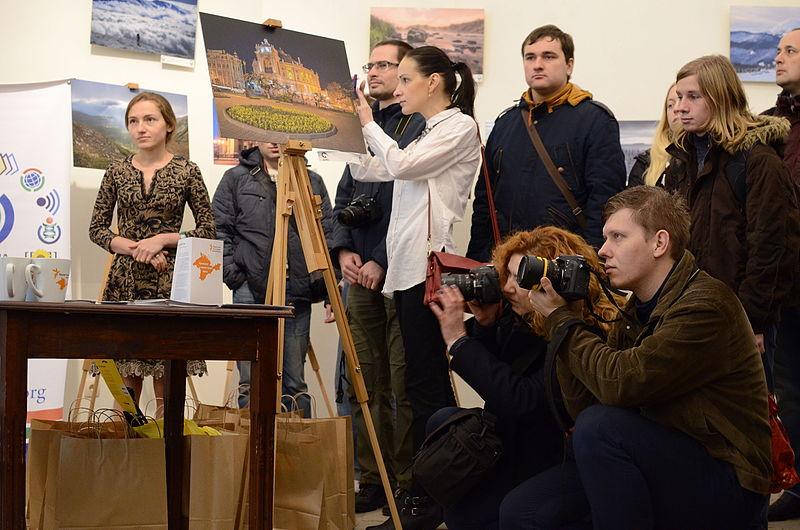 Церемонія нагородження переможців Wiki Loves Monuments Ukraine 2015 у Великій лаврській дзвіниці.