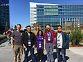 Wikimedia mentors and org admins at Google Summer of Code mentor summit 2018.jpg