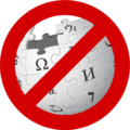 Wikipedia logo with forbidden symbol.png