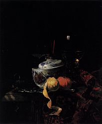 Willem Kalf: Still-Life with Chinese Porcelain Bowl