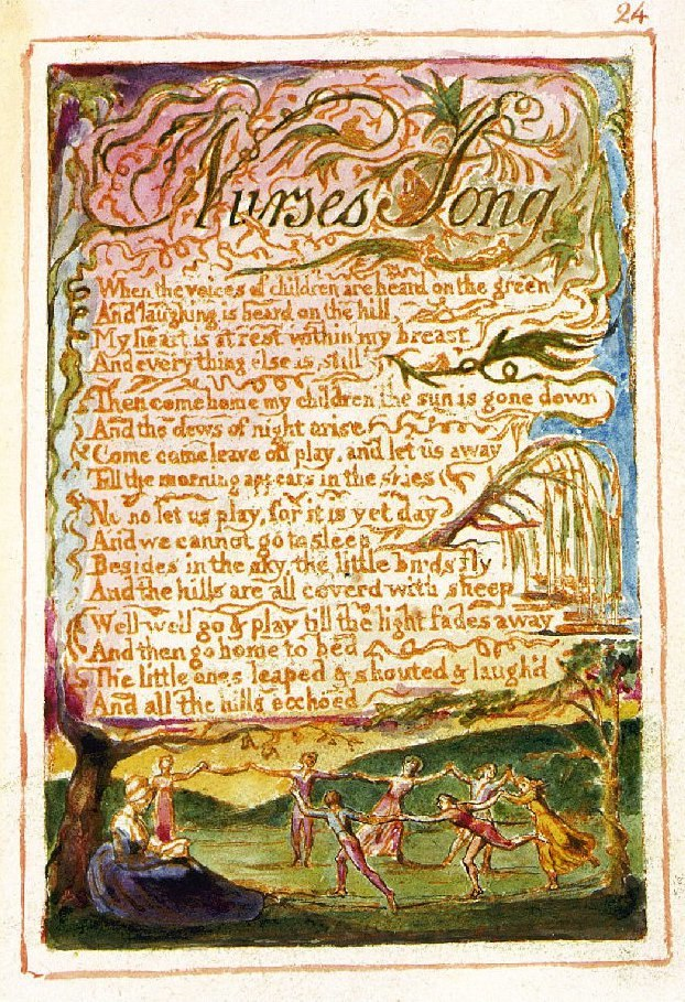 William Blake Nurses Song Copy Z 1826