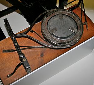 William Herschel - Herschel's mirror polisher, on display in the Science Museum, London