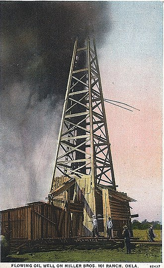 """101 Ranch Oil Company - """"Willie-Cries-For-War"""" : The first 101 Ranch Oil Company oil well"""