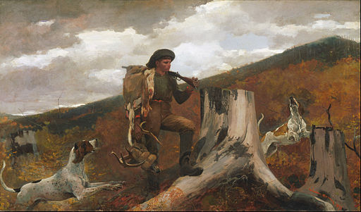 Winslow Homer, American - A Huntsman and Dogs - Google Art Project