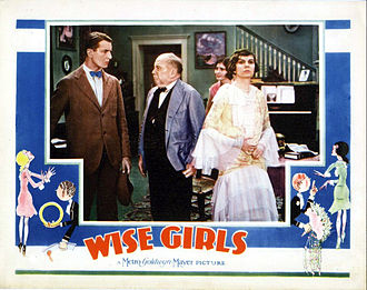 J. C. Nugent - Nugent facing his son, Elliott, in the lobby card for the 1929 film Wise Girls. Norma Lee is in the foreground and Marion Shilling in the background.