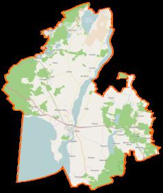 Mapa lokalizacyjna gminy Wolin