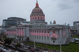 Members of the San Francisco Board of Supervisors - The Board of Supervisors meets in San Francisco City Hall