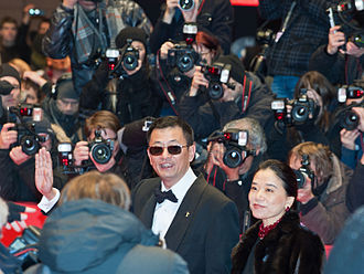 63rd Berlin International Film Festival - Wong Kar-wai, Jury President along with his wife at the festival