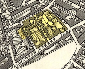 Bathway Quarter - Bathway Quarter on a 1860s Ordnance Survey map