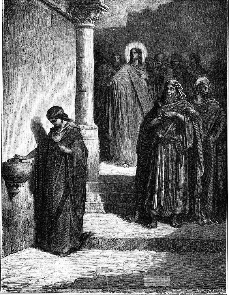 과부의 헌금 (귀스타브 도레, Gustave Dore, 1866년)
