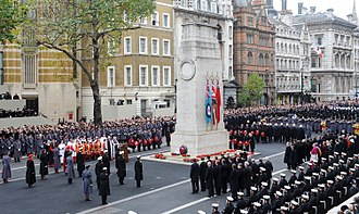 National Service of Remembrance - The wreath-laying ceremony on 14 November 2010