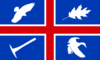 Wroxton village flag.png