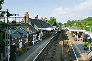 Wymondham railway station Railway station in Norfolk, England