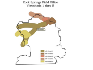 Viewshed analysis - Image: Wyoming trails