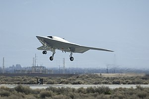 2005 in the United States - June 2: The Northrop Grumman X–47B unmanned combat air vehicle (UCAV)