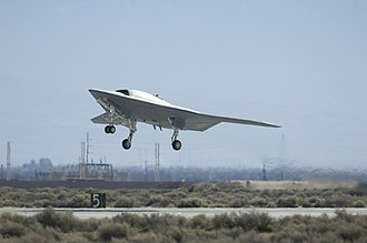 Northrop Grumman X-47B - The X-47B's first takeoff at Edwards Air Force Base, California, on 4 February 2011