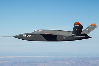 Kratos XQ-58 Valkyrie Planned stealthy unmanned combat air vehicle for the US Air Force
