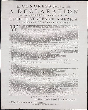 Committee of Five - Image: Yale Dunlap Broadside
