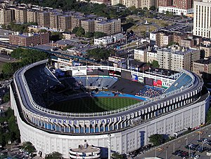 Yankee Stadium (1923) - Aerial view in August 2002.